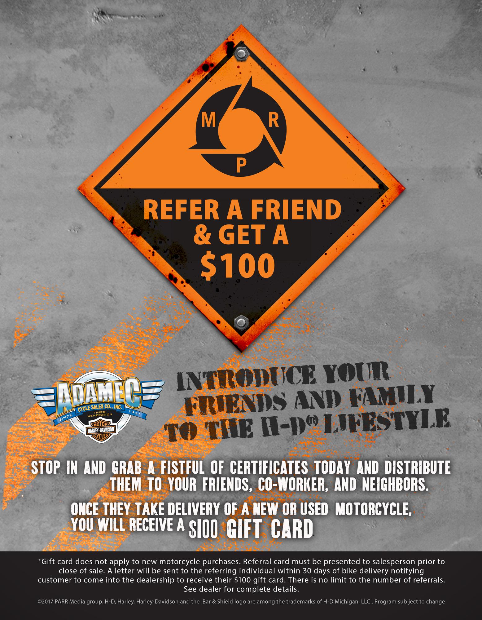 refer a friend flyer template